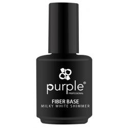 PURPLE Base Fiber Milky White Shimmer 15ml P1604