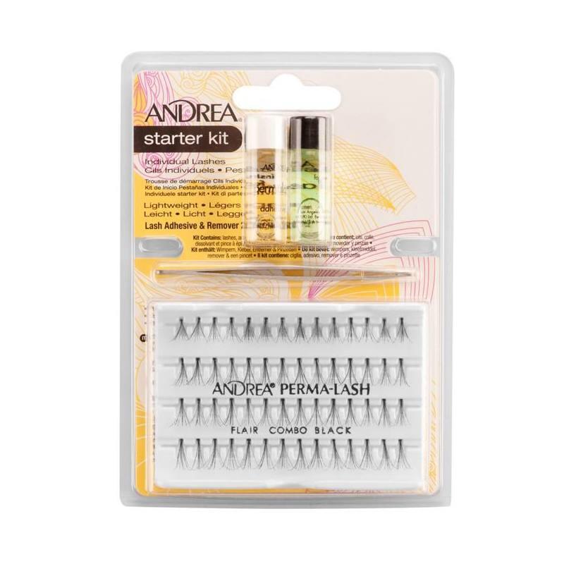 ANDREA Kit Pestañas Individuales Combo Negra 04077